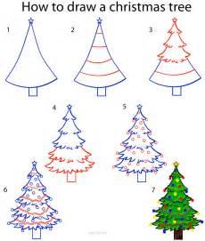 draw christmas tree step step myideasbedroom com