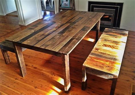 diy pallet outdoor rustic bench pallet furniture diy pallet dining table with benches pallet furniture plans