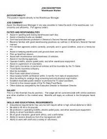 Warehouse Duties operations geologist resume warehouse worker description duties and responsibilities