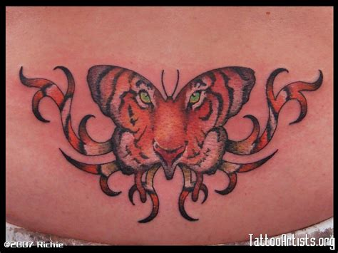 tattoo butterfly tiger face butterfly tattoos and designs page 264