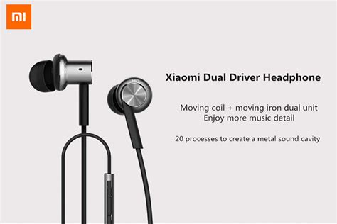 Xiaomi Mi Iv Hybrid Dual Drivers Earphones Headset In Ear Mi Piston new xiaomi 4th generation piston hybrid dual driver