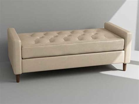 daybed bench bench daybed 3d model