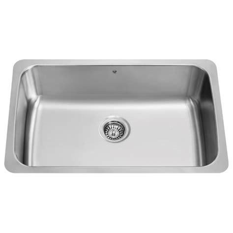 30 Inch Kitchen Sinks Vigo Industries Vigo 30 Inch Undermount Stainless Steel 18 Single Bowl Kitchen Sink