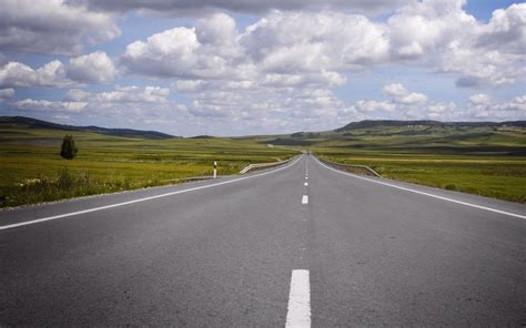 endless road fields clouds wallpapers endless road