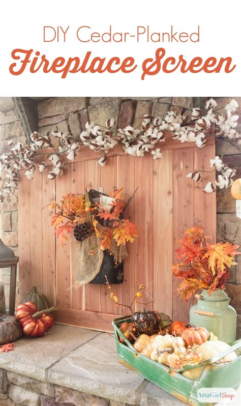 Make Your Own Fireplace Screen by Cedar Planked Diy Fireplace Screen Atta Says