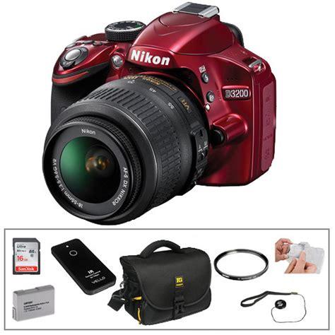 Nikon D3200 Lensa Kit 18 55mm nikon d3200 dslr with 18 55mm lens basic kit b h