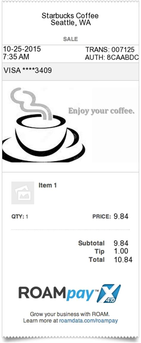 coffee shop receipt template types of receipts available expressexpense