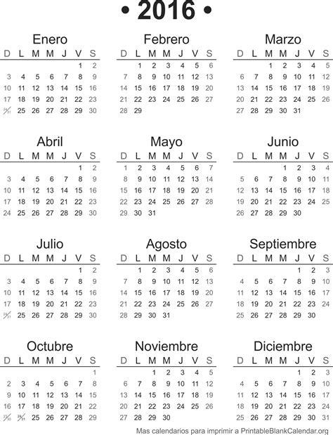 Calendario Almanaque 2016 Calendario 2016 Para Imprimir Calendarios Para Imprimir
