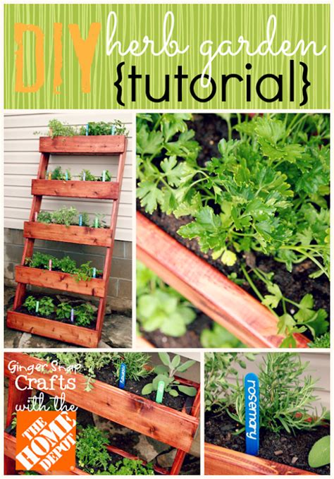 home depot diy projects snap crafts diy herb garden tutorial digin ad