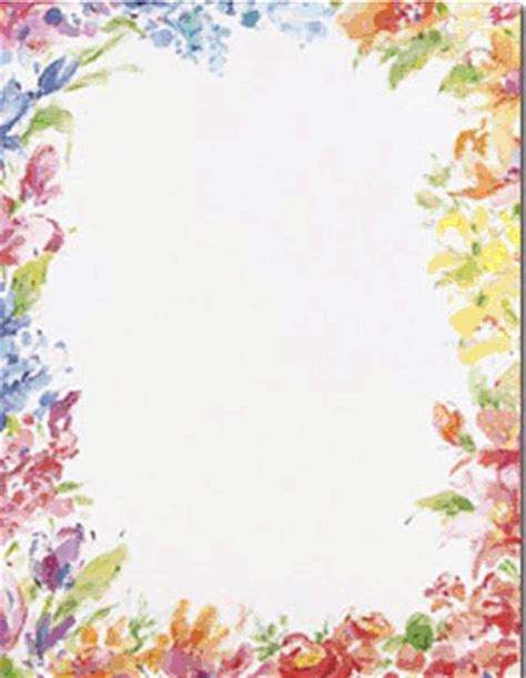 How To Make A Paper Border - floral border paper paper with floral border
