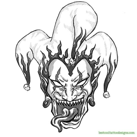 cool tattoo drawings clown joker designs best cool designs