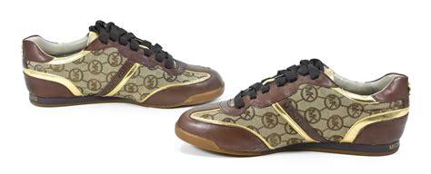 michael kors tennis shoes michael kors logo signature monogram trainer tennis shoe