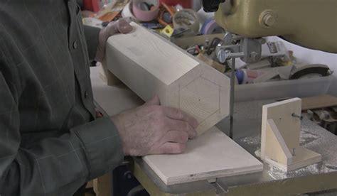 making  hexagon tapered column woodworking blog