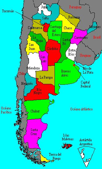 argentina political map political map of argentina argentina