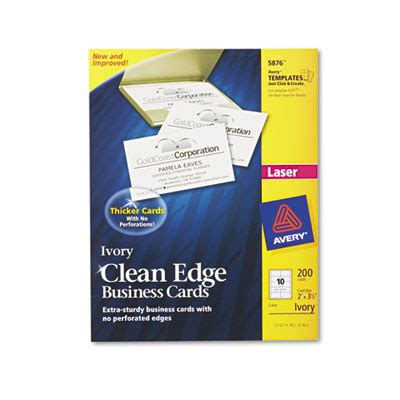 5882 lasaer clean edge business card template printer