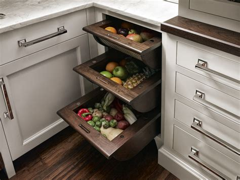 Vegetable Bins For Kitchen by Qcci Walnut Fruit And Vegetable Bins Eclectic Kitchen
