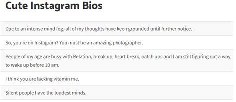 biography video ideas list of funny instagram bios status ideas whitedust
