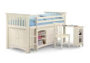 julian bowen cameo white sleep station mid sleeper by