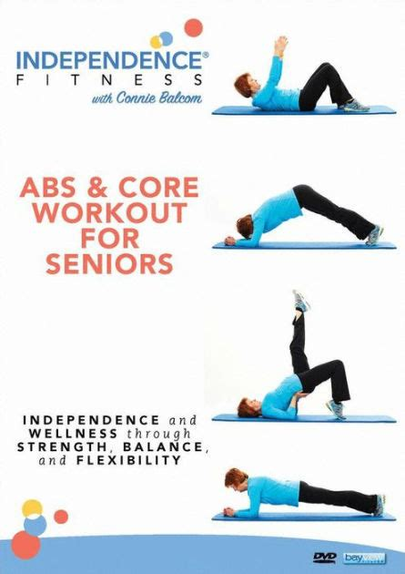 printable exercise program for seniors independence fitness abs core workout for seniors