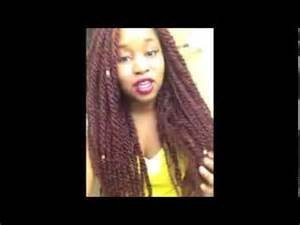 color 99j in marley hair protective style burgundy marley twists youtube