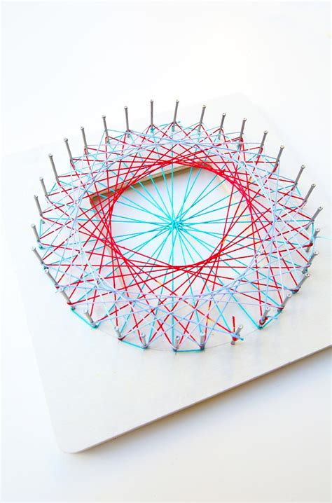 String Math Project - math idea explore geometry through string