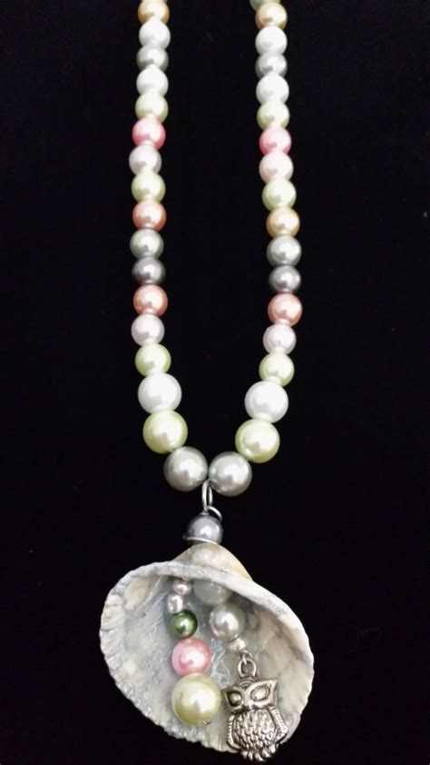 Handmade Seashell Jewelry - handmade seashell necklace