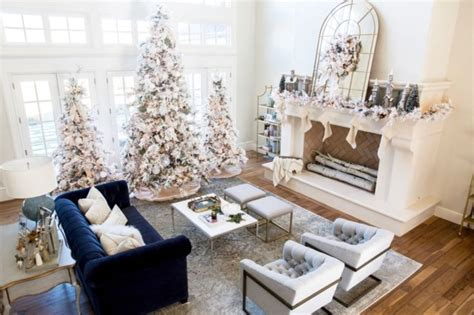 home interior design themes blog 42 elegant decorating ideas for white christmas godiygo com