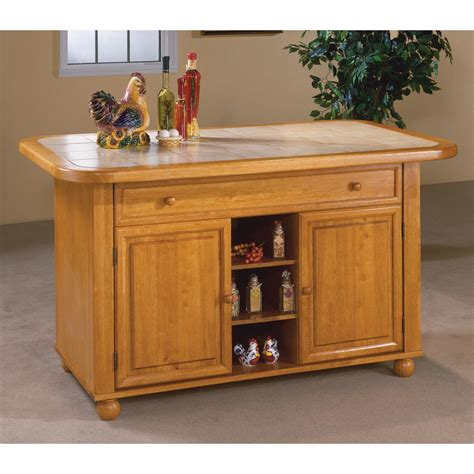 Sunset Trading Kitchen Island Sunset Trading Julian Kitchen Island With Sliding Ceramic Tile Top Kitchen Islands And Carts