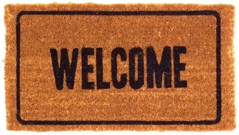 Welcome Door Mat Welcome Doormats Shells Doormats Thick Coir Mats