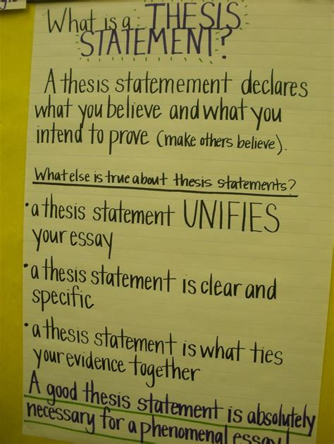 thesis statements about education thesis statements anchor chart definitely a idea