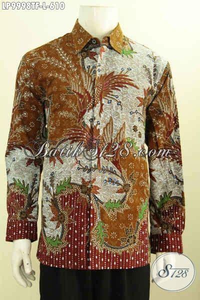 Elegan Pakaian Kemeja Batik Motif Melati jual kemeja batik premium pakaian batik elegan nan mewah lengan panjang furing bahan