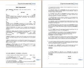Sales Agreement Template Word by Ms Word Sales Agreement Template Free Agreement Templates