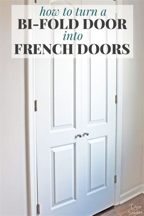how do you make a door into a swinging bookcase how to turn a bi fold door into french doors diy closet