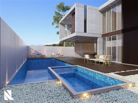 house with pool renders free 3d model modern house with pool by byron galvez
