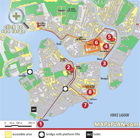 map tourist attractions printable maps update 21051488 tourist map of venice venice