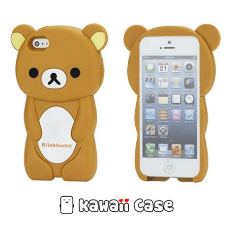 3d Ipgone 5 rilakkuma iphone 5 3d style kawaii
