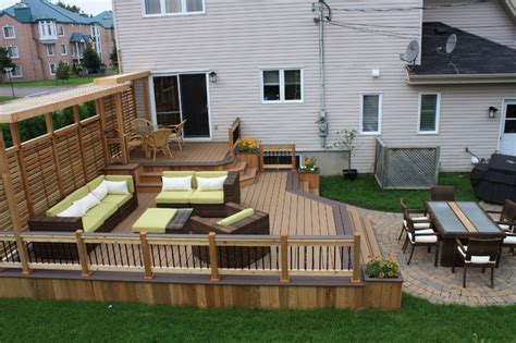 Patio Deck Patio Deck Design 174 Contemporary Montreal By