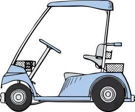 free blue golf cart clip art