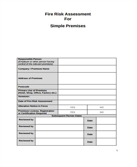 safety assessment template 36 sle risk assessment form