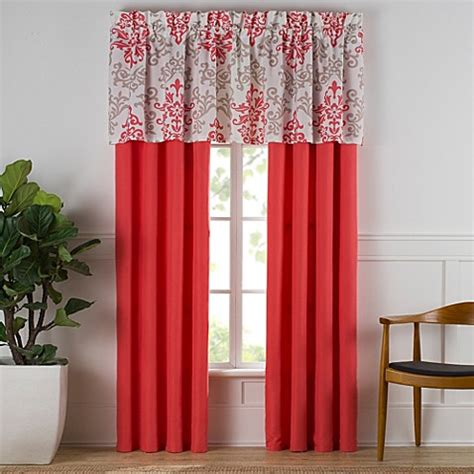 Coral Valance Curtains Window Valance In Coral Bed Bath Beyond