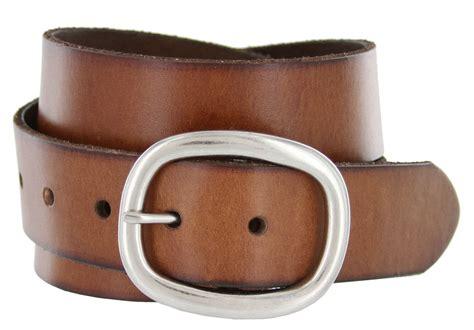 oval buckle grain leather casual jean belt 1 1 2