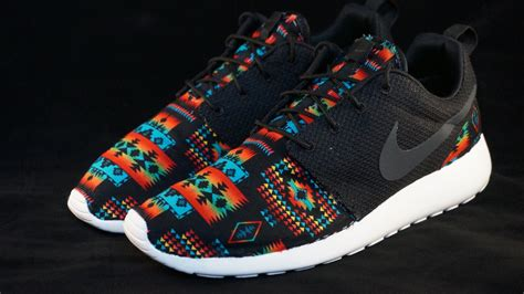 tribal pattern nike roshe new nike roshe run custom black blue tribal aztec edition