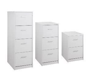 Momento White 3 Drawer Filing Cabinet
