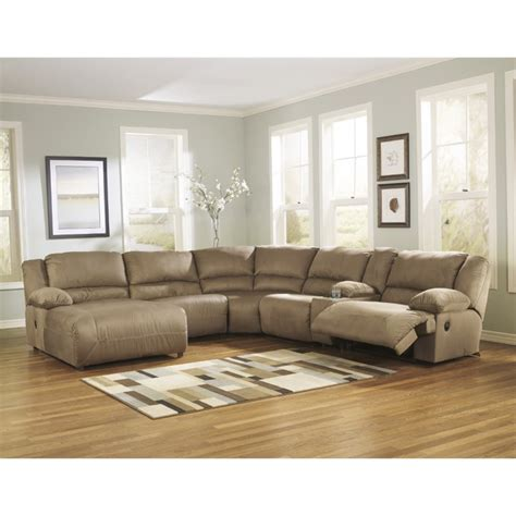 ashley hogan sectional ashley hogan 6 piece reclining right facing sectional in
