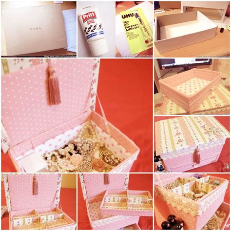 how to make cardboard jewelry boxes diy vintage floral cardboard jewelry box