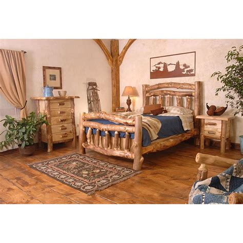 caign bedroom furniture aspen log collection homestead bed hsb