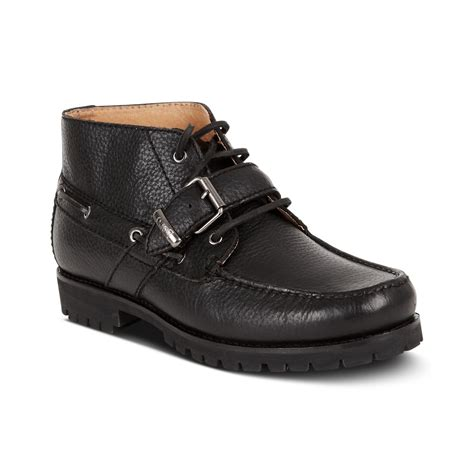 ralph leather boots ralph rumford leather boots in black for black
