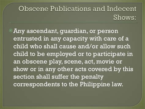 child exploitation and obscenity section ra 7610