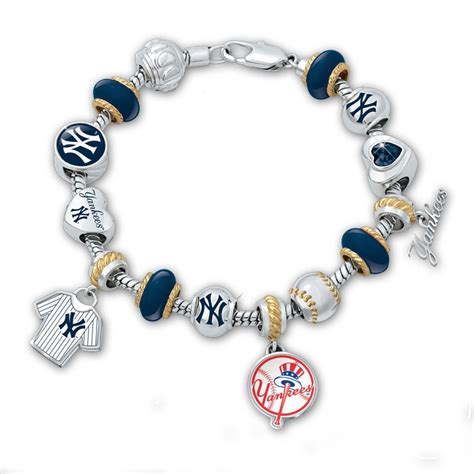 new york yankees beaded charm bracelet willabee ward
