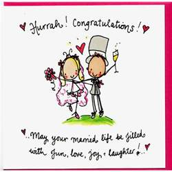 congratulations wedding card hurrah congratulations may your married be filled
